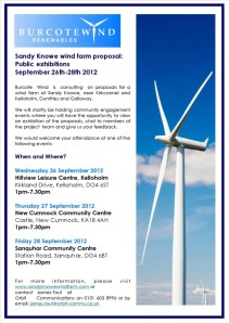 Sandy Knowe Community Event Poster - September 2012