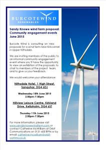 Sandy Knowe Community Event Poster